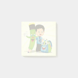 Cartoon Boy Goes to School Post-it® Notes