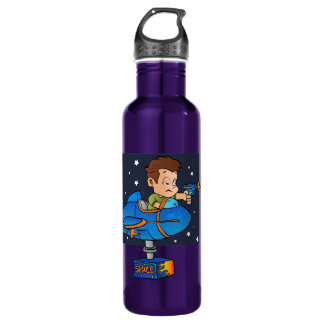 Cartoon Boy in imaginary Rocket