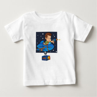 Cartoon Boy in imaginary Rocket Baby T-Shirt