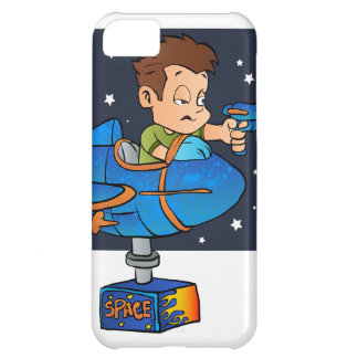 Cartoon Boy in imaginary Rocket iPhone 5C Covers