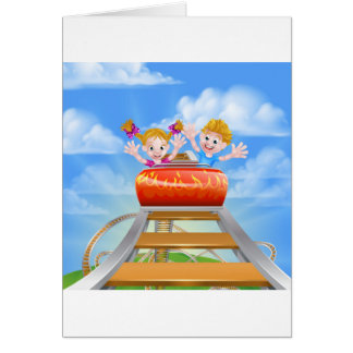 Cartoon Boy Jumping Thumbs Up Card
