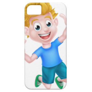 Cartoon Boy Jumping Thumbs Up iPhone 5 Covers