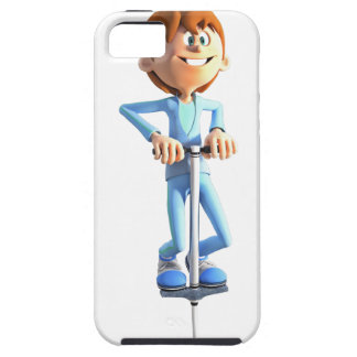 Cartoon Boy on a Pogo Stick iPhone 5 Cover