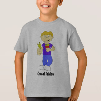 Cartoon Boy With French Fries T-Shirt