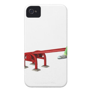 Cartoon Boys having fun on a See Saw iPhone 4 Cases