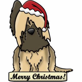 Cartoon Briard Christmas Ornament Photo Sculpture Ornament