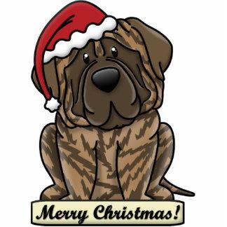 Cartoon Brindle Mastiff Photo Sculpture Ornament