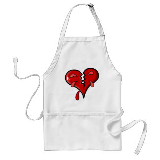 Cartoon Broken Hearted Design Standard Apron
