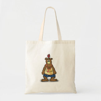Cartoon Brown bear standing on his back feet Tote Bag