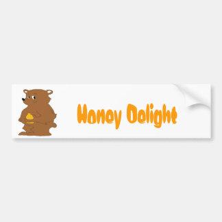 Cartoon Brown Bear With Orange Juice Bumper Sticker