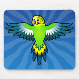 Cartoon Budgie / Parakeet Mouse Pad