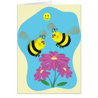 Cartoon Bumble Bees Card