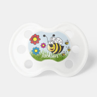 Cartoon Bumble Bees Pacifier