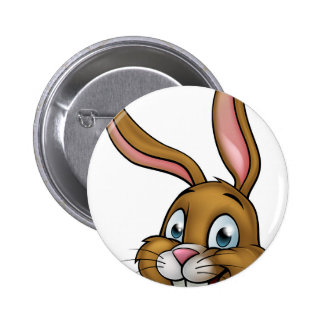 Cartoon Bunny Rabbit Face 2 Inch Round Button