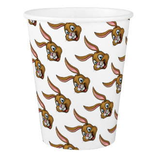 Cartoon Bunny Rabbit Face Paper Cup