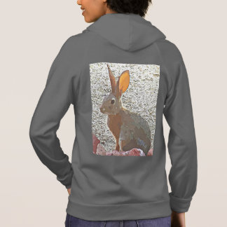 Cartoon Bunny - Women's California Zip Hoodie