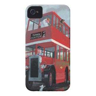 cartoon bus stop queue iPhone 4 Case-Mate case