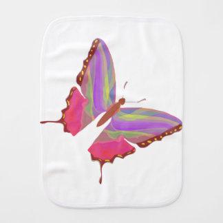 Cartoon Butterfly Baby Burp Cloth