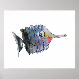 Cartoon Butterfly Fish Children's Wall Art Poster