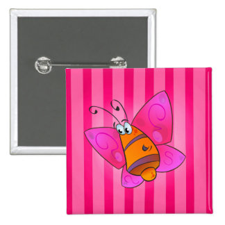 cartoon butterfly Square Button