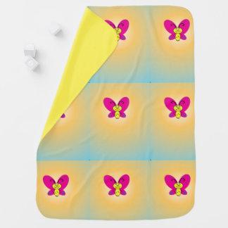 Cartoon Butterfly Stroller Blanket