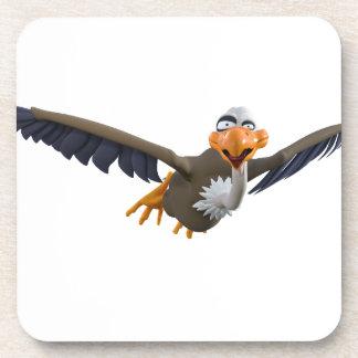Cartoon Buzzard Flying Seen from Below Drink Coaster