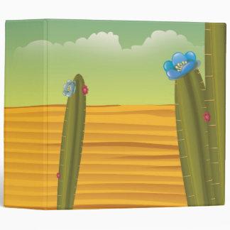 Cartoon Cactus Desert Binders