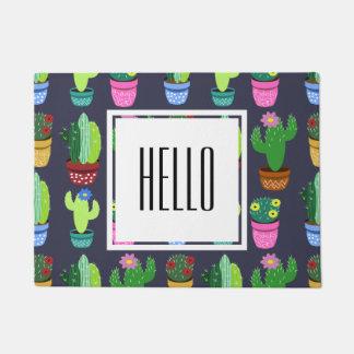 Cartoon Cactus Pattern Doormat