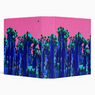Cartoon Cactus Pink Ring Binder