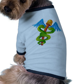 Cartoon Caduceus Dog Shirt