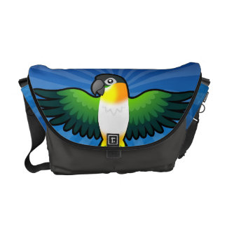 Cartoon Caique / Lovebird / Pionus / Parrot Commuter Bag