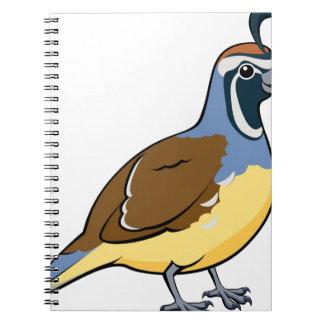 Cartoon California Quail Notebook