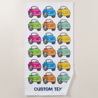 Cartoon Car Beach Towel