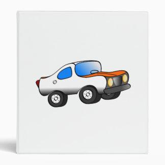 Cartoon Car Vinyl Binder