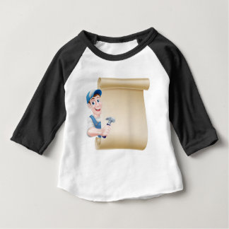 Cartoon Carpenter Scroll Baby T-Shirt