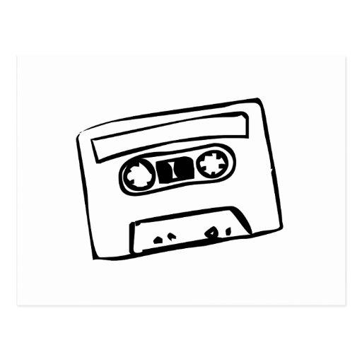 Cartoon Cassette Tape Postcards