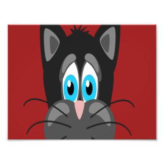 Cartoon Cat Close Up Photographic Print