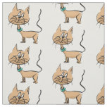 Cartoon cat fabric