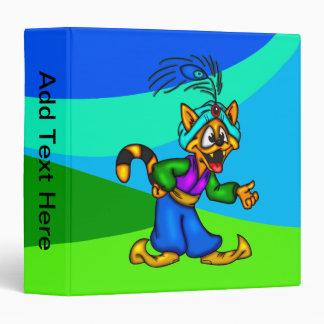 Cartoon Cat Genie Avery Binder