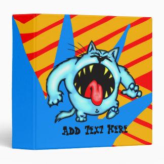 Cartoon Cat Monster Avery Binder