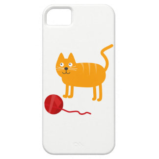 Cartoon Cat with Ball of Wool Mobile Phone Case