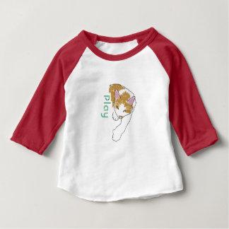 cartoon cat with play logo baby T-Shirt