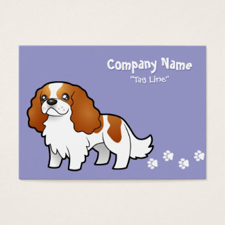 Cartoon Cavalier King Charles Spaniel Business Card