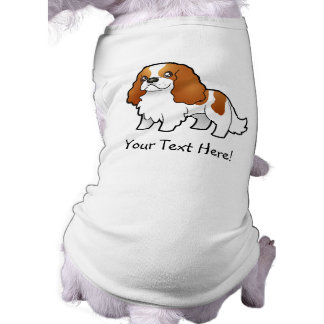 Cartoon Cavalier King Charles Spaniel Doggie Shirt