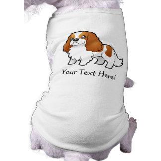 Cartoon Cavalier King Charles Spaniel Doggie Shirt