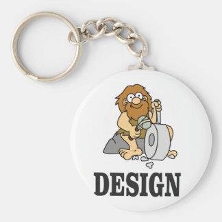cartoon cave design basic round button keychain