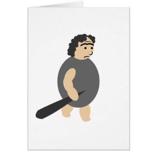 Cartoon Caveman Greeting Card