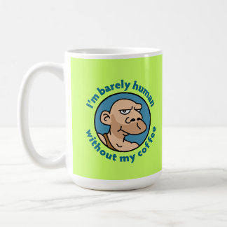 Cartoon Caveman Classic White Coffee Mug