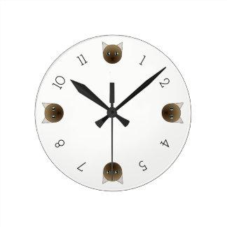 Cartoon Champagne Mink Tonkinese Clock