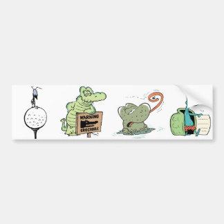 Cartoon Character Animals Kids Bumper Sticker